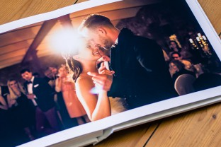 high end wedding album