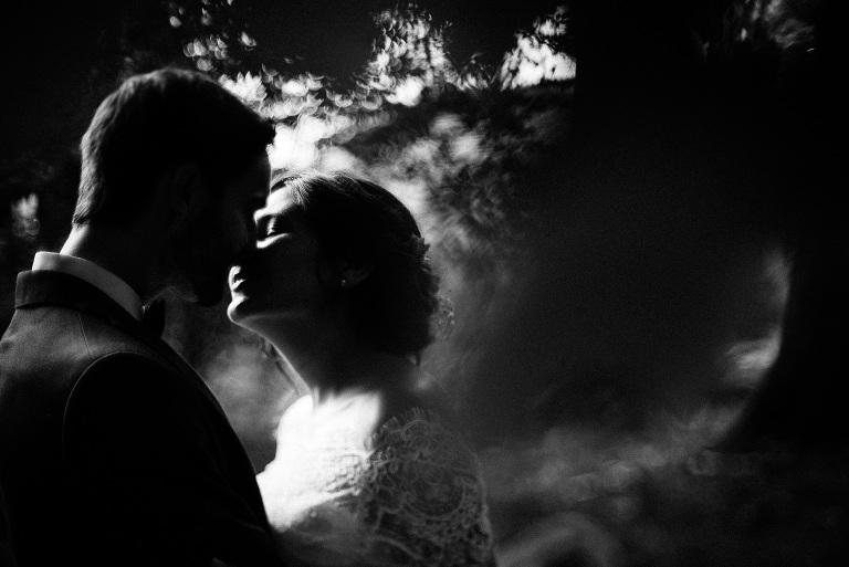 Hochzeitsreportage in schwarz-weiß