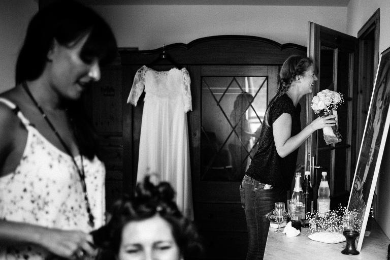 Hochzeitsreportage in Schwarz-Weiss