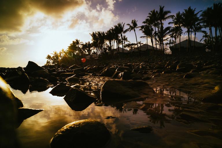 der Morgen am Strand