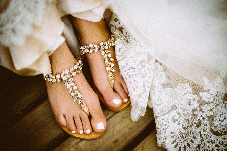edle Sandalen für die Braut, Brautschuhe